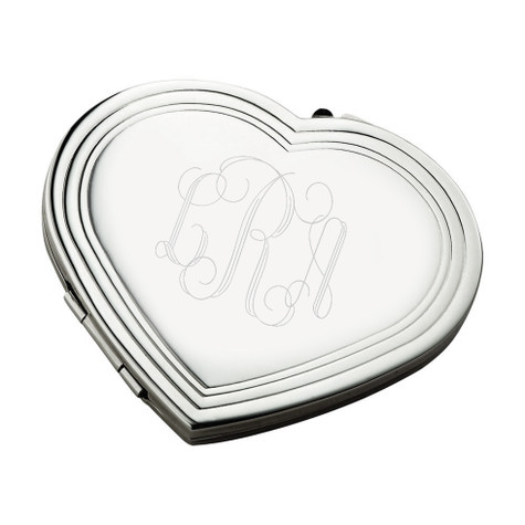 Personalized Heart Compact Mirror│HandPicked