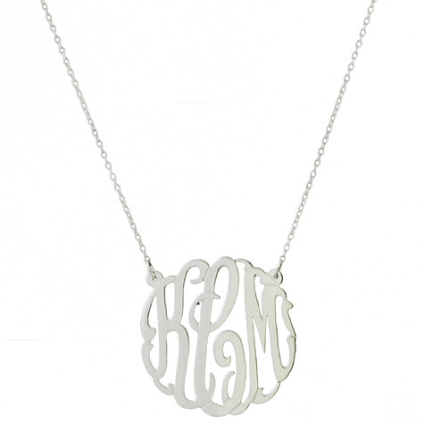 Personalized Circle Script Necklace on Split Chain│HandPicked