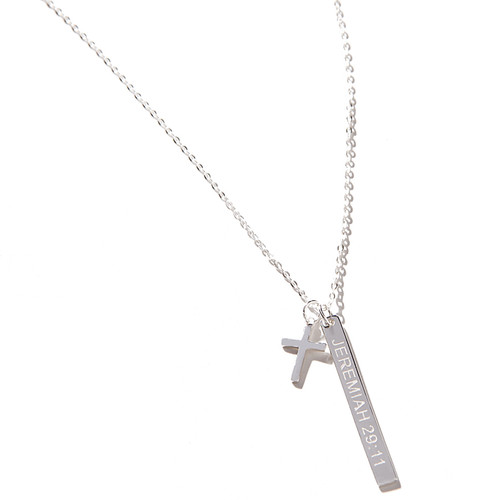 Jeremiah 29:11 Bar & Cross Necklace