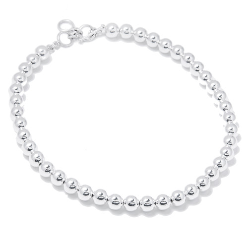 10MM Silver Bead Necklace│HandPicked