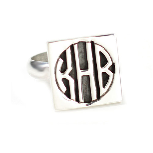 Personalized Square Cutout Ring