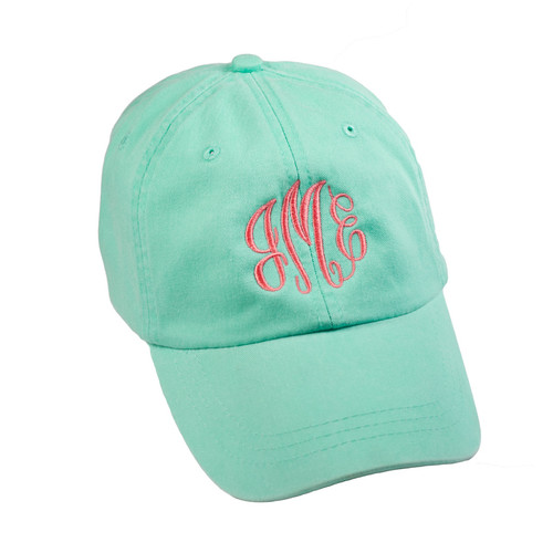 Personalized Seafoam Pigment-Dyed Baseball Cap │HandPicked