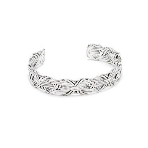 Intertwined Silver Weave Cuff│HandPicked