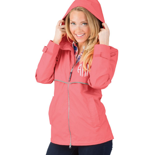 Personalized Coral Adult Rain Jacket│HandPicked