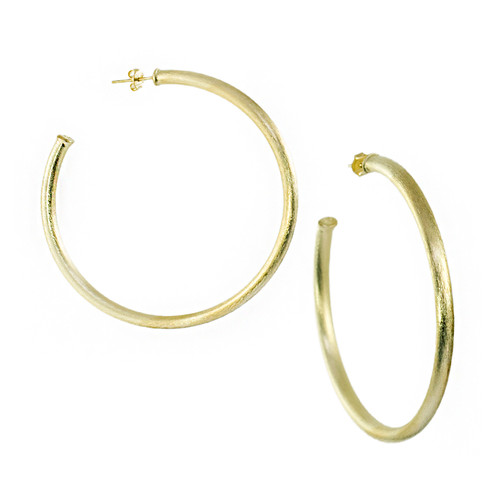 "Sheila Fajl 2.5"" Gold Everybody's Favorite Hoops  │HandPicked"