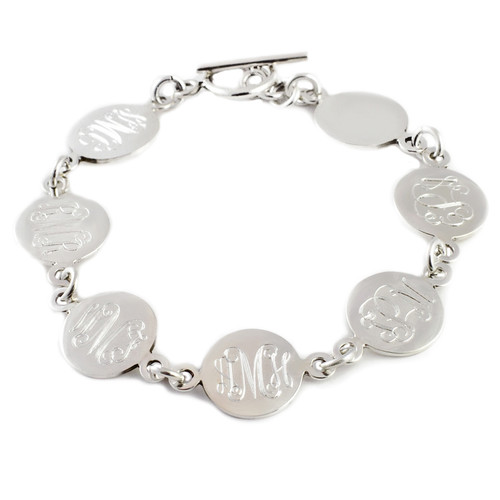 Classic Monogram Sterling Family Link Bracelet  - Specially Customized