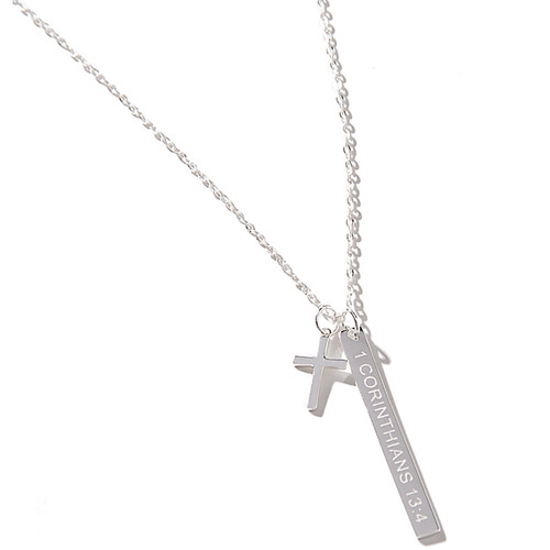 Back In Stock! Corinthians 13:4 Exclusive Sterling Necklace   HandPicked