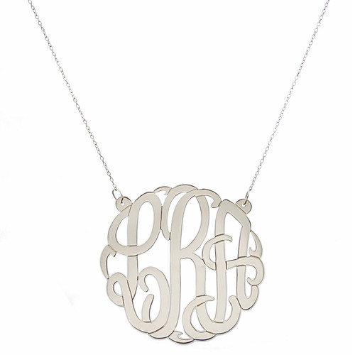 CUSTOM Personalized Large Script Cutout Necklace