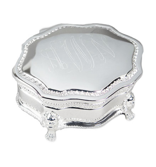 Pre-order for JUNE Delivery - Classic HP Victorian Style Monogram Jewelry Keepsake Box