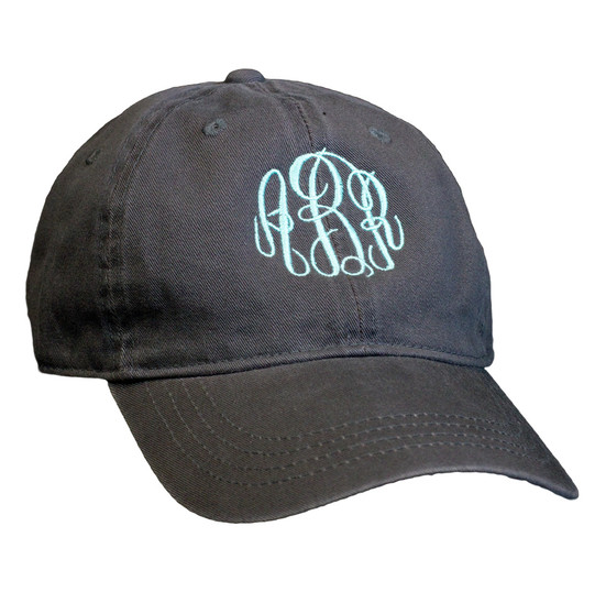 Personalized Charcoal Baseball Cap │HandPicked