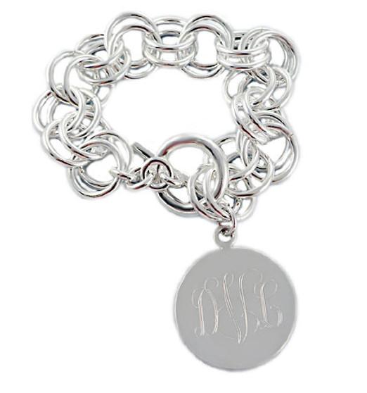 Personalized Large Double Link Bracelet