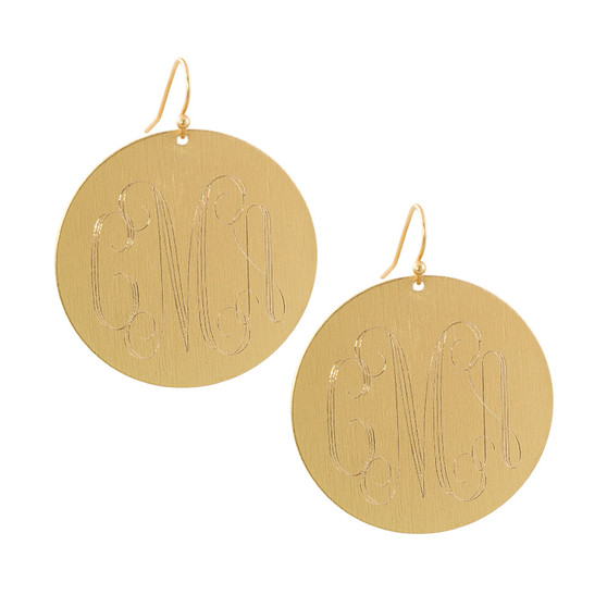 """Personalized Gold 1.5"""" Circle Earrings│HandPicked"""