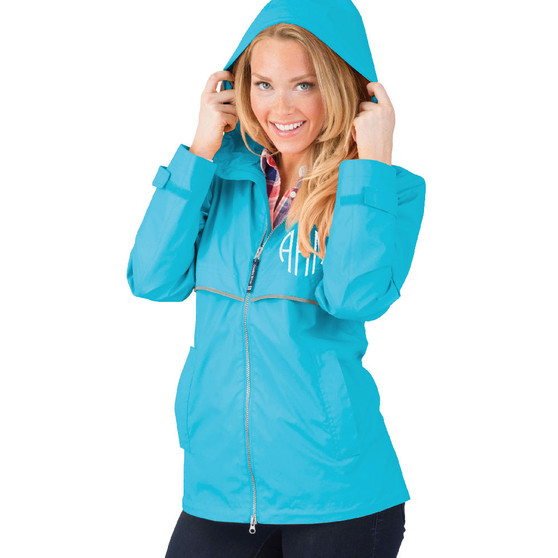 New Englander Personalized Adult Rain Jacket - Wave│HandPicked│Charles River Apparel