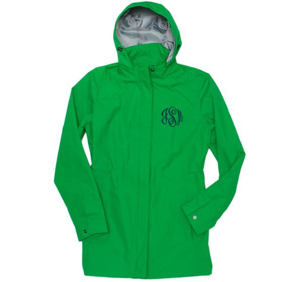 Personalized Kelly Green Logan Rain Jacket │HandPicked