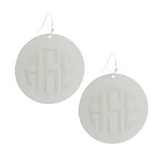 "Back in Stock - Favorite Monogram 1.5"" Disc Fashion Earring"