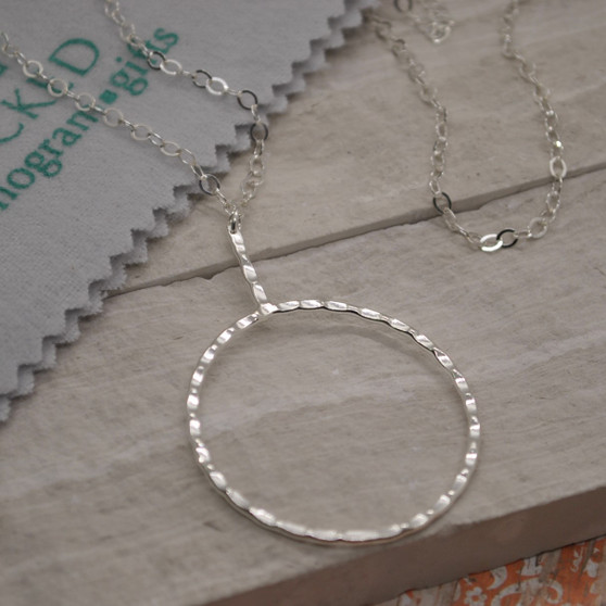 "HP Exclusive Ring & Bar Sterling Silver Necklace - 30""+2"""