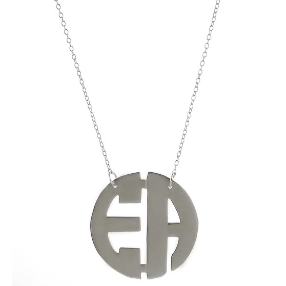 Two Initial Custom Monogram Cutout Necklace | HandPicked Jewelry