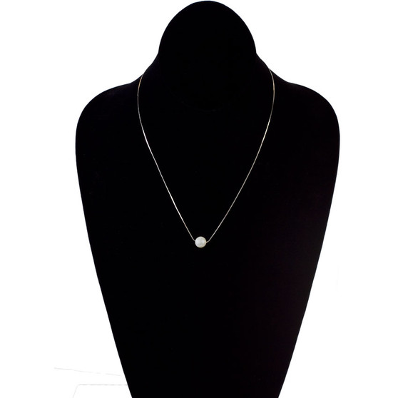 Simple Kind of Pearl - Single Freshwater Pearl on Sterling Snake Chain