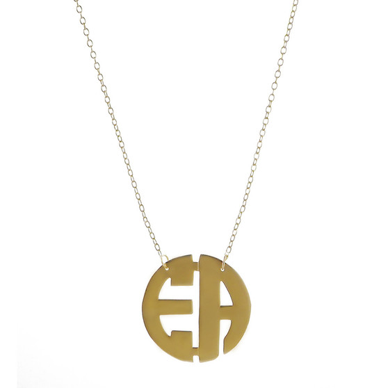 Personalized Small Two Initial Necklace