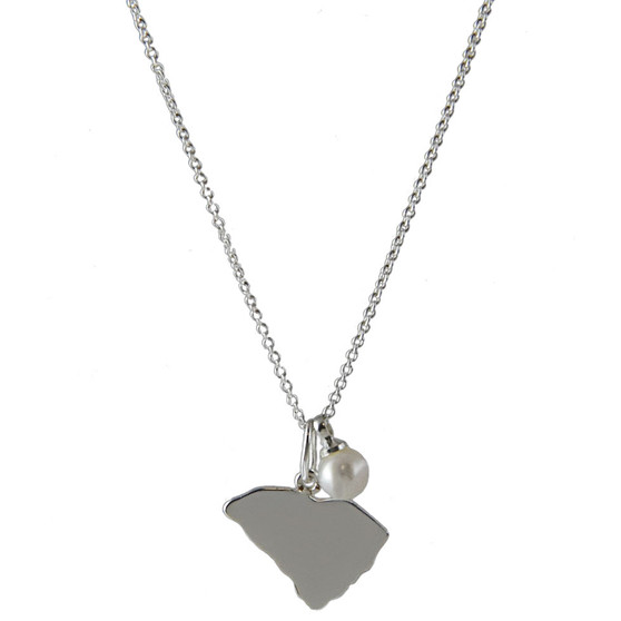 HP Sterling Silver SC State Necklace | HandPicked