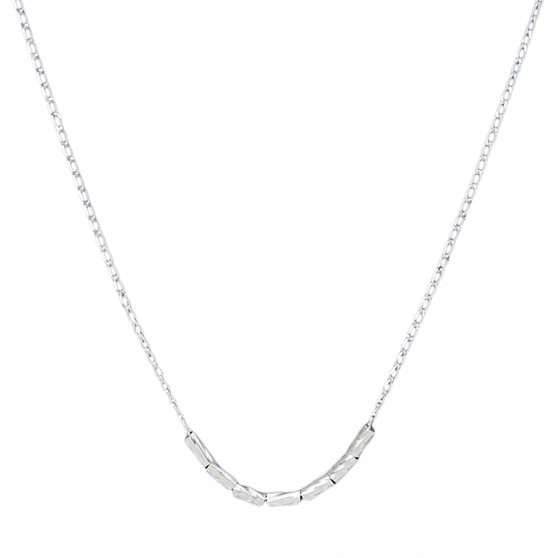 """""""MOM"""" Special Morse Code Necklace - Sterling Silver"""