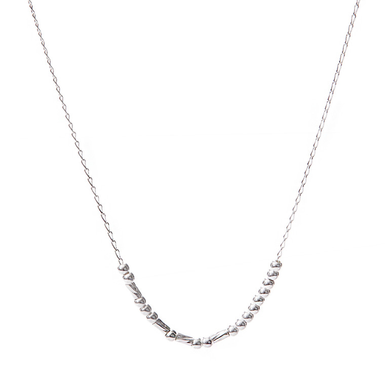 """""""FEARLESS"""" Custom Sterling Silver Morse Code Necklace - HP Exclusive"""