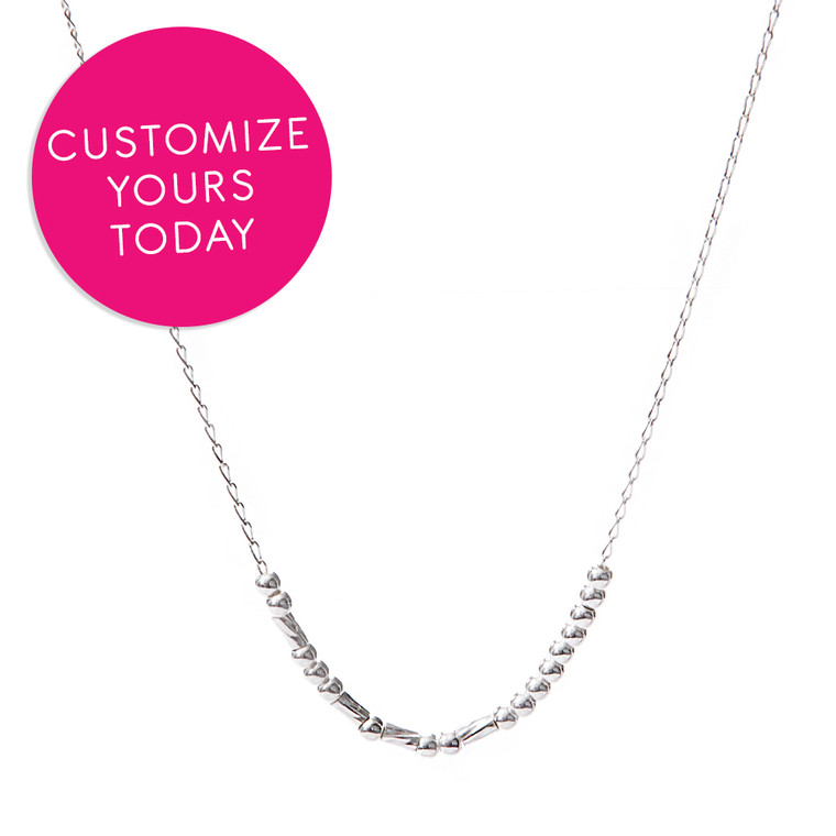 Custom Made Morse Code Sterling Necklace