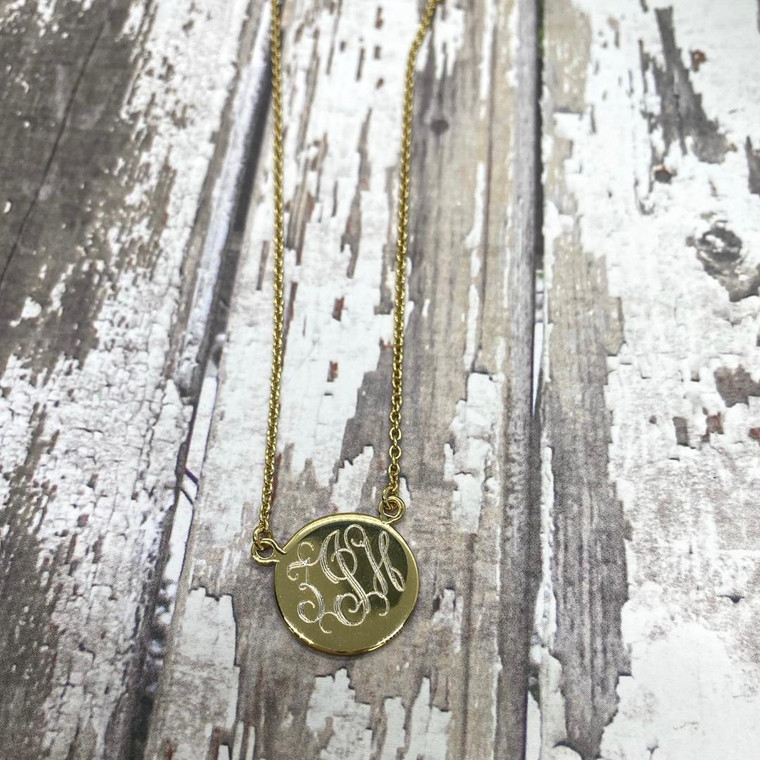 ZJH- Gold Plated Sterling Silver Necklace  - Sample Sale