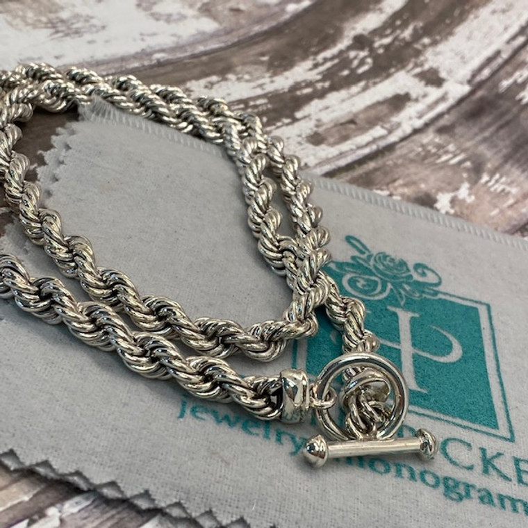 """HP Artisan Crafted Sterling Silver Classic Rope Necklace - 22"""""""