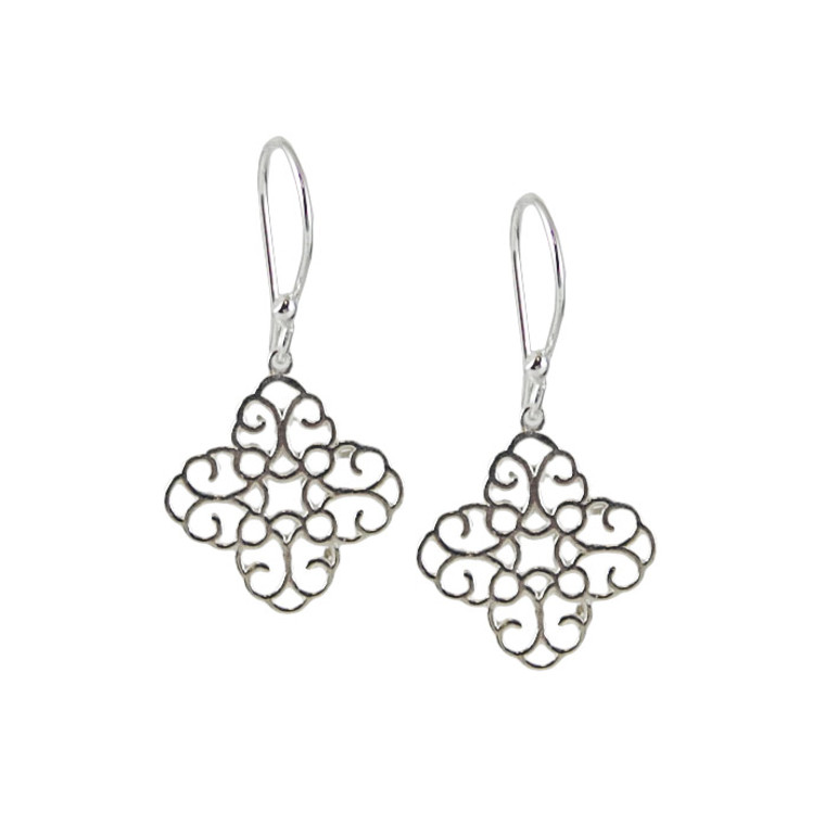 Sterling HP Designed Small Intricate Cross - NAOMI Exclusive