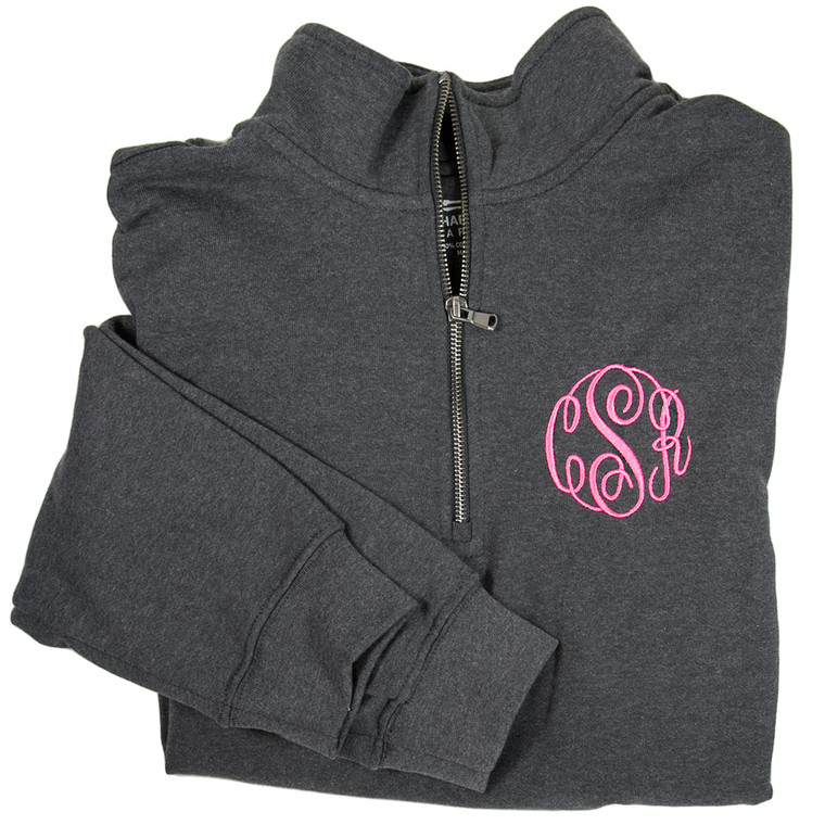 4 Color Options! Personalized Quarter Zip Pullover