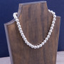 Artisan Crafted Sterling Silver 10mm Bold Bead Necklace