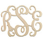 Traditional 3 Initial Monogram Wooden Cutout  | HandPicked