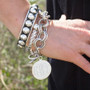 Monogram Bracelet - Exclusive Sterling Silver HandPicked Classic Design Double Link