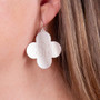 "Monogram Fashion Silver 1.5"" Clover Earring"
