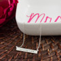 Back in Stock! Sterling Silver Bar Monogram Necklace