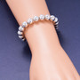Artisan Crafted Classic Sterling Silver 10mm Bold Bead Bracelet