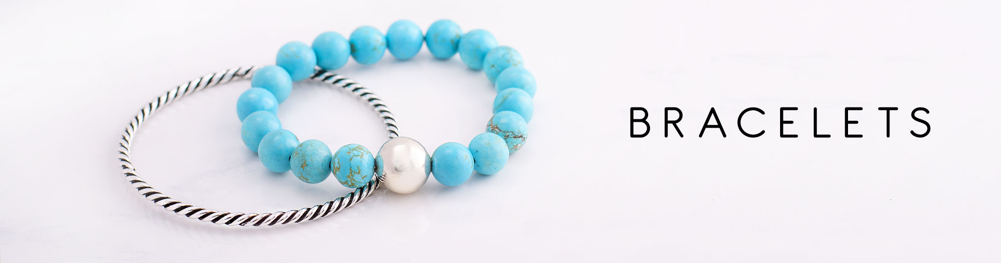Silver and Stone Bracelets for Women