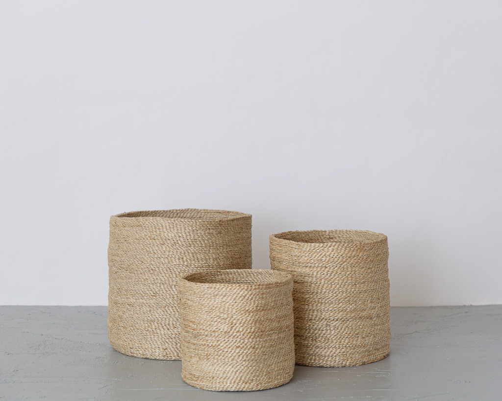 Three Round Baskets