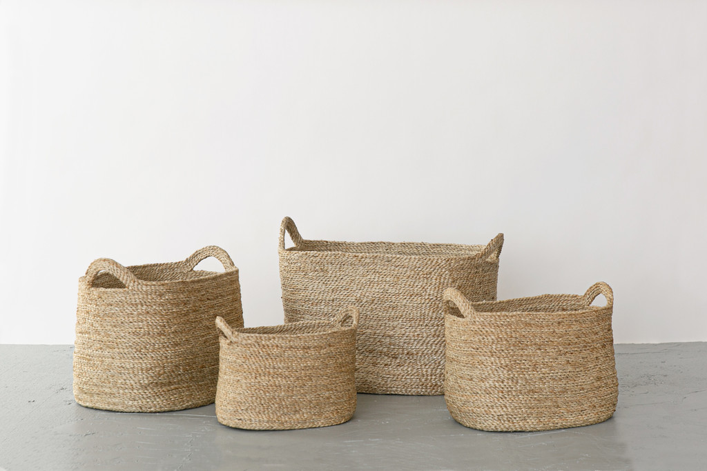 Oval Jute Baskets - Natural