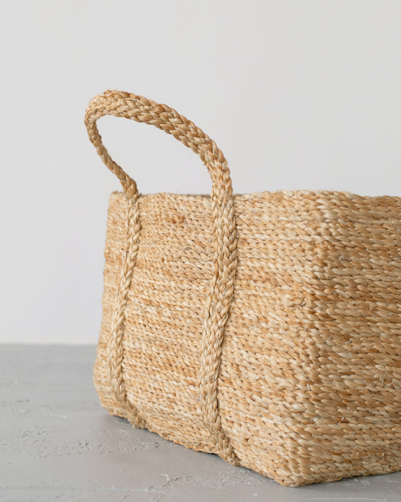 Square Jute Basket - Natural