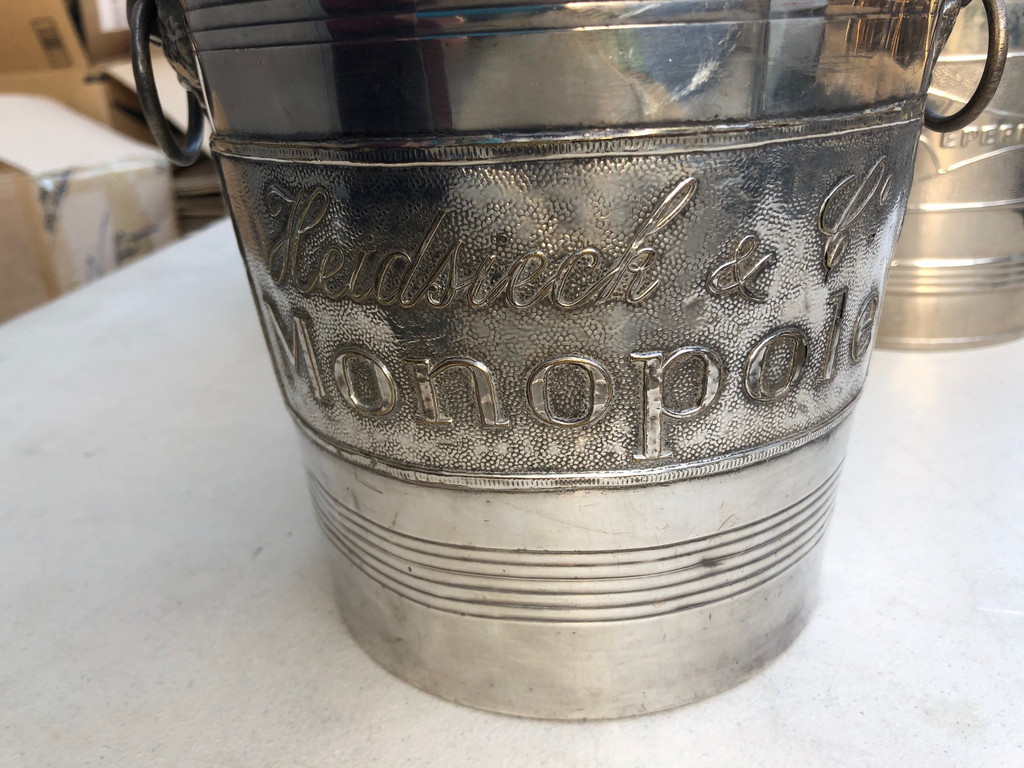 Vintage French Champagne Bucket - Heidsiek Monopole