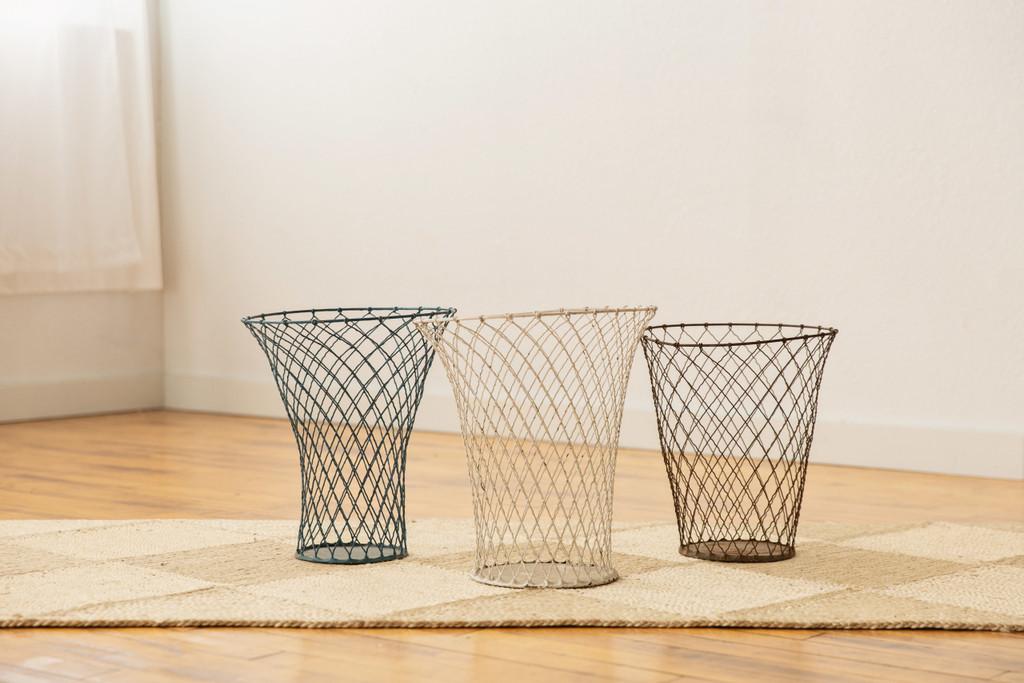 Vintage French Wire Waste Baskets