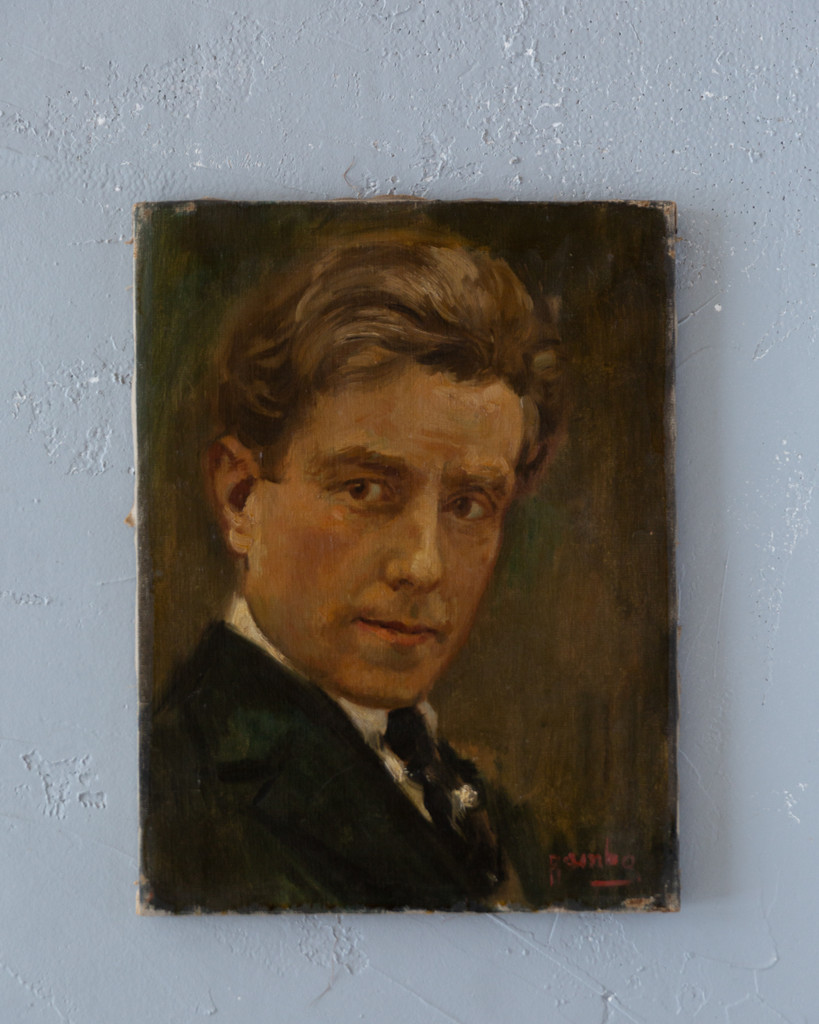 Vintage French Painting - Portrait of a Gentleman