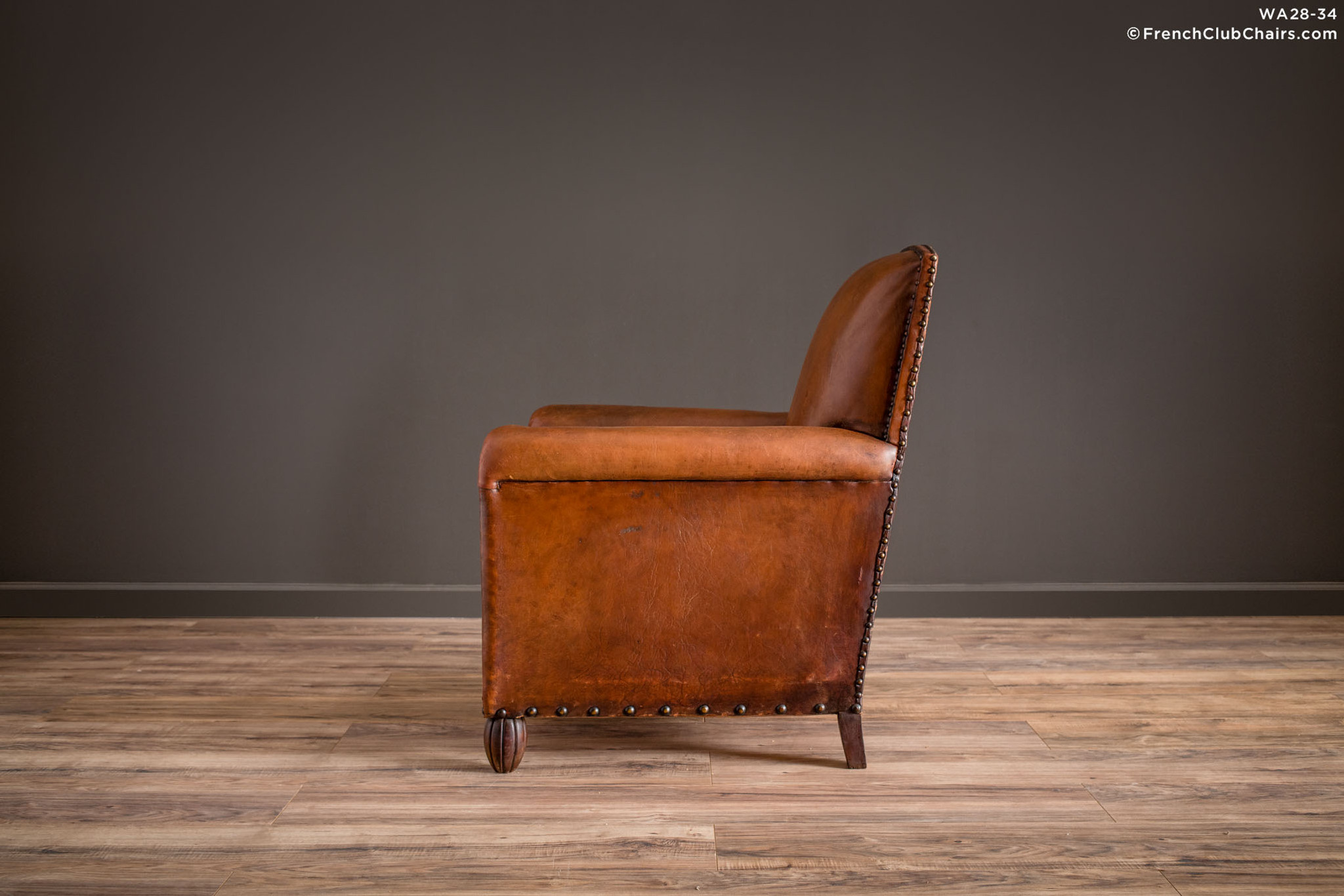 Vintage French Club Chair - Moutenee Library Solo