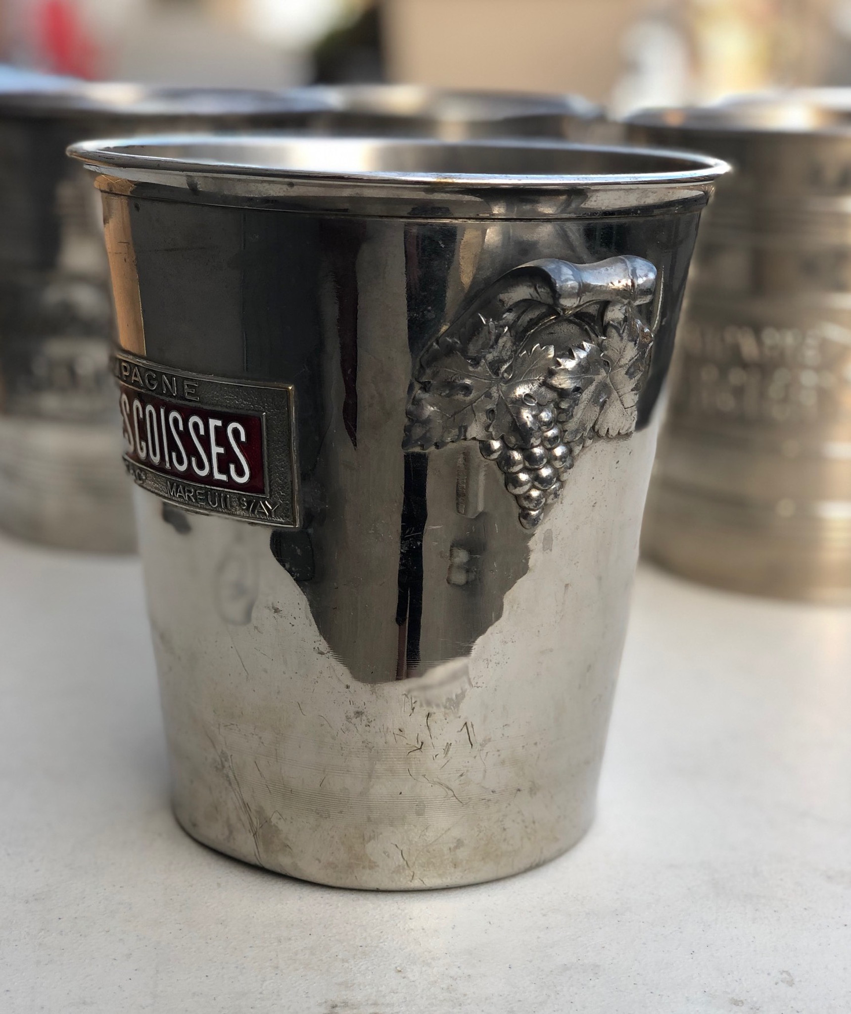 Vintage French Champagne Bucket - Clos Des Coisses
