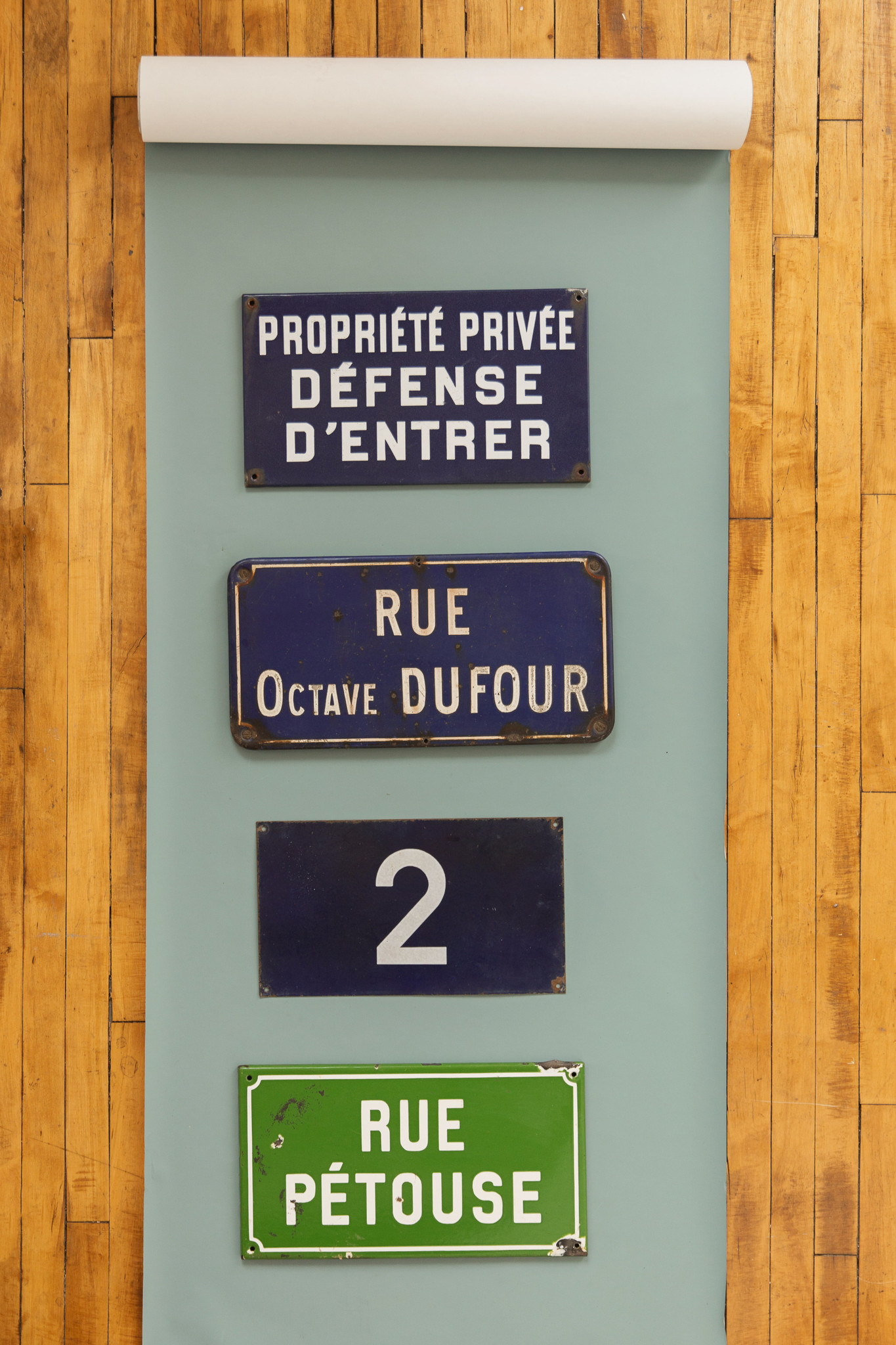 Vintage French Street Sign - Rue Petouse