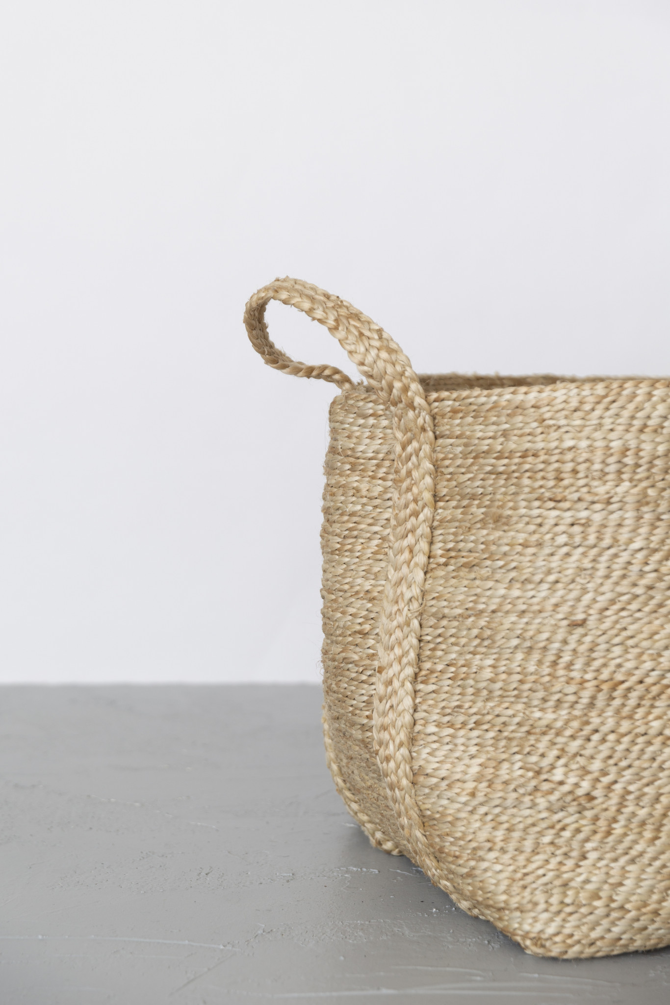 Jute Basket Large Natural  CU