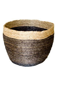 Jute Bowl - Charcoal w/Natural Trim