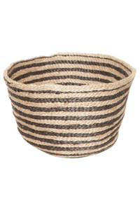 Jute Bowl - Charcoal Stripe